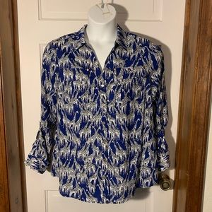Charter Club button down giraffe top